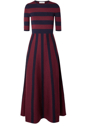 Gabriela Hearst - Capote Striped Merino Wool And Cashmere-blend Maxi Dress - Navy