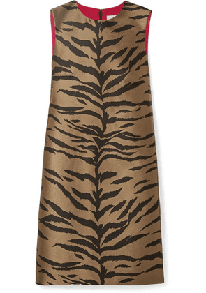 Carolina Herrera - Tiger-jacquard Mini Dress - Tan