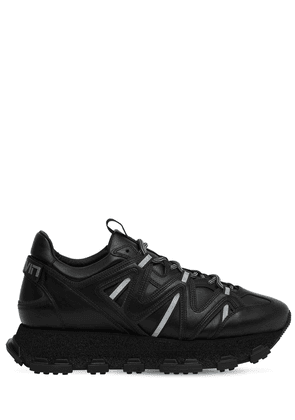 Lightening Leather Chunky Sneakers
