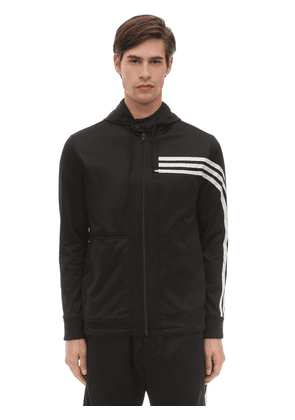 3 Stripe Hooded Techno Track Top