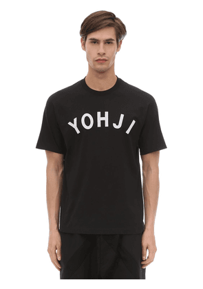 Yohji Letters Cotton Jersey T-shirt