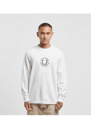 Fred Perry Global Sweat, WHT/WHT