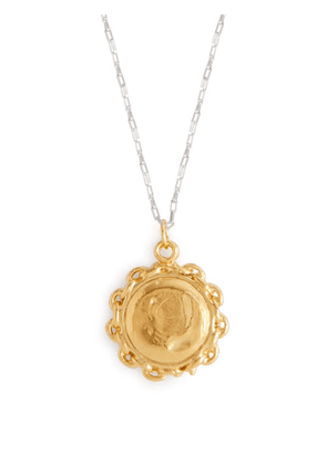 Alighieri - Invisible Compass Gold Plated Necklace - Womens - Silver Gold