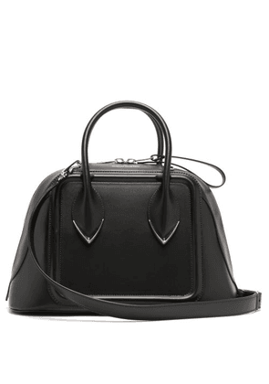 Alexander Mcqueen - Pinter Panelled Leather Bowling Bag - Womens - Black