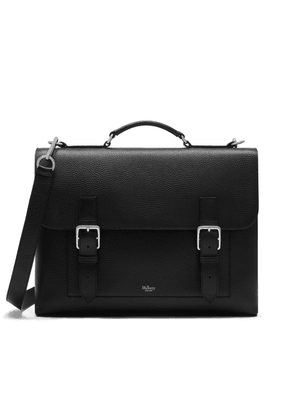 Mulberry Chiltern Briefcase in Black Natural Grain Leather