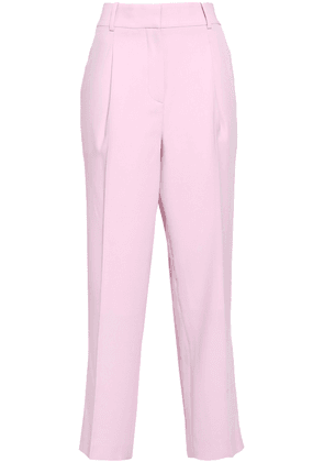 Bottega Veneta Cropped Pleated Wool Tapered Pants Woman Baby pink Size 42