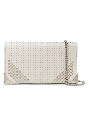 Elena Ghisellini Studded Leather Clutch Woman Off-white Size --