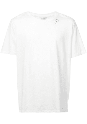 Saint Laurent playing card print T-shirt - White