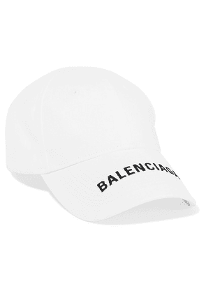 Balenciaga - Embroidered Cotton-twill Baseball Cap - White