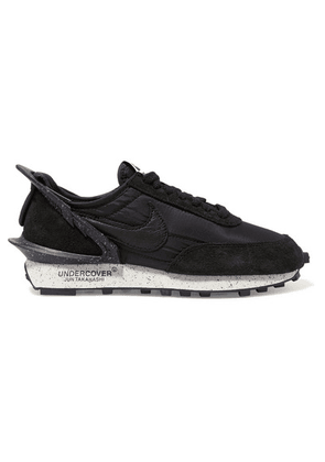 Nike - + Undercover Daybreak Leather-trimmed Shell And Suede Sneakers - Black