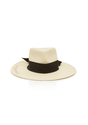 Sensi Studio Texas Babe Embroidered Straw Panama Hat