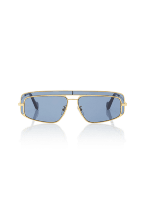 Loewe Sunglasses Square-Frame Metal Sunglasses