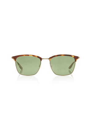 BARTON PERREIRA Atkins D-Frame Tortoiseshell Acetate and Metal Sunglasses
