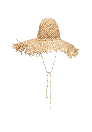 Avenue Chloe Fringed Straw Hat