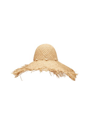 Avenue Fitzgerald Frayed Straw Hat