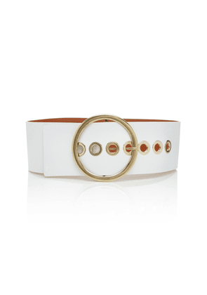 Maison Boinet Grommet-Embellished Leather Belt