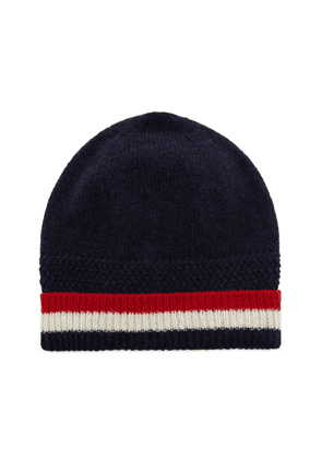 Thom Browne Striped Ribbed Wool Beanie