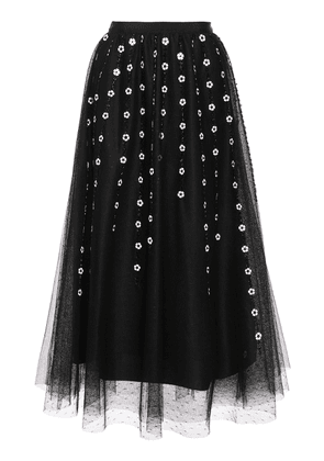 Red Valentino Embroidered Tulle Skirt