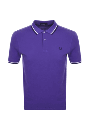 Fred Perry Twin Tipped Polo T Shirt Purple