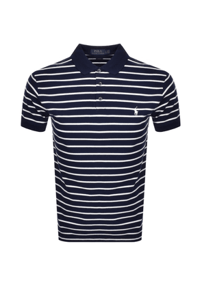 Ralph Lauren Stripe Polo T Shirt Navy