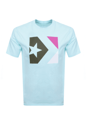 Converse Star Chevron Box Logo T Shirt Blue
