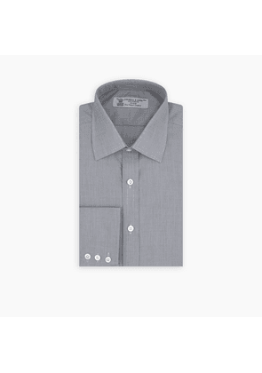 Grey Sea Island Quality Cotton Shirt with T & A Collar and 3-Button.