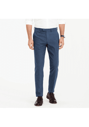 Bowery slim pant in hatched cotton