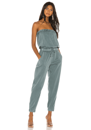 YFB CLOTHING Reeve Jumpsuit in Blue. Size XS.