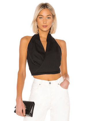 J.O.A. Halter Neck Crop Top in Black. Size M,S,XS.