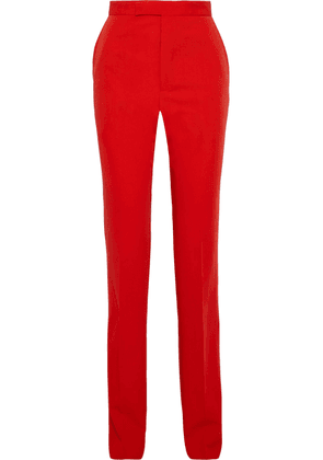 Bottega Veneta Wool-twill Straight-leg Pants Woman Red Size 48
