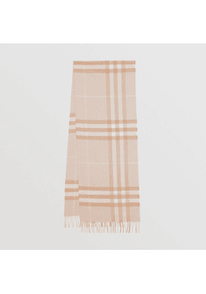 Burberry The Classic Check Cashmere Scarf, Blush
