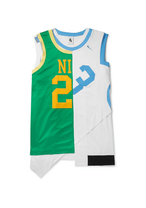 Nike - Nrg Asymmetric Panelled Mesh And Stretch-jersey Tank Top - Green