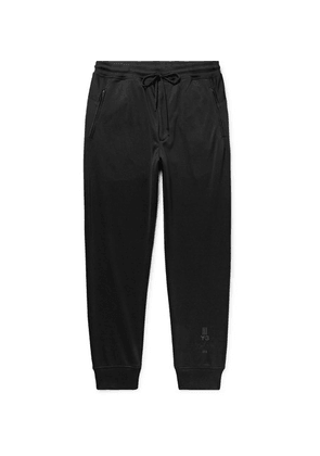 Y-3 - Tapered Tech-jersey Sweatpants - Black
