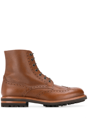 Brunello Cucinelli brogue-detail boots - Brown