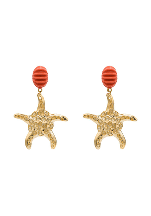 Rixo Kristina starfish drop earrings - Gold