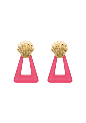 Rixo Helene triangle shell motif earrings - Pink