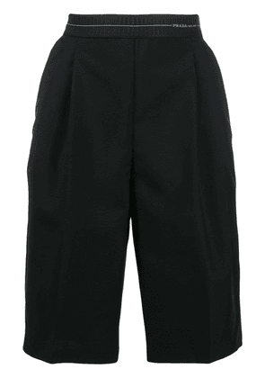 Prada pleated tailored shorts - Black