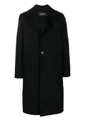 Neil Barrett strap detail overcoat - Black