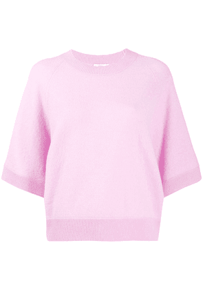 Closed 3/4 sleeve knitted top - Pink
