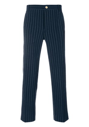 Thom Browne Chalk Stripe Cotton Suiting Unconstructed Chino Trouser -