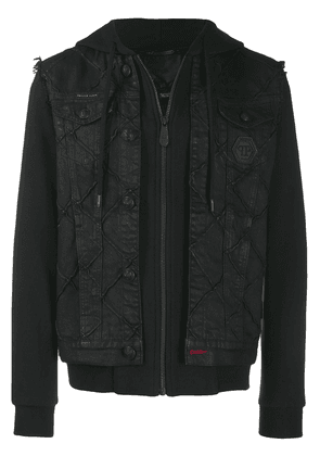 Philipp Plein Statement denim jacket - Black