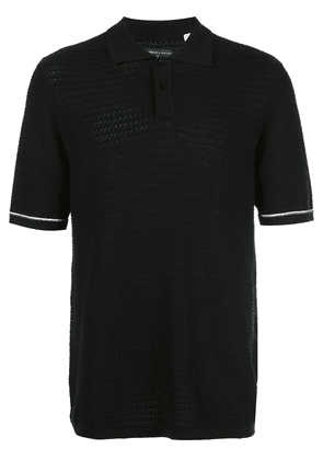 Levi's: Made & Crafted crochet stitch polo shirt - Black