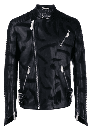 Philipp Plein skull biker jacket - Black
