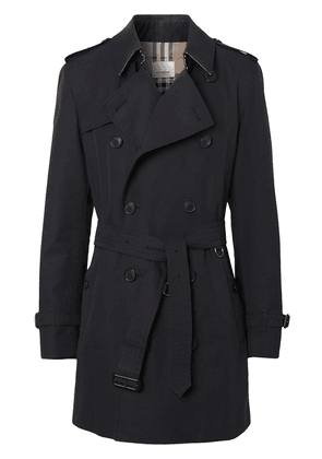 Burberry Cotton Gabardine Trench Coat - Blue