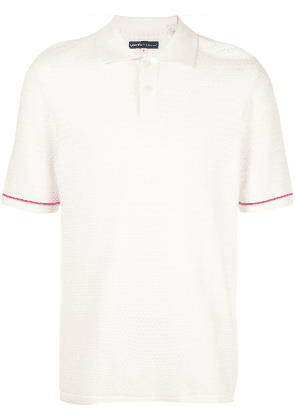 Levi's: Made & Crafted crochet stitch polo shirt - White