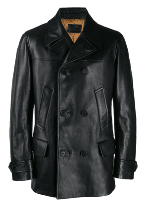 Prada long line leather jacket - Black