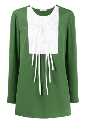 Tory Burch tie-front blouse - Green