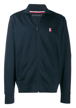 Tommy Hilfiger logo patch embroidered jacket - Blue