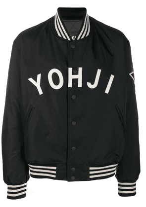 Y-3 printed logo jacket - Black