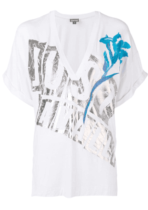 Just Cavalli logo print T-shirt - White